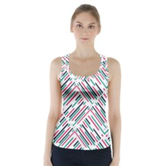 Abstract Colorful Pattern Background Racer Back Sports Top