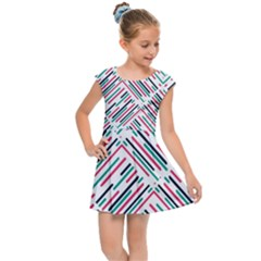 Abstract Colorful Pattern Background Kids  Cap Sleeve Dress