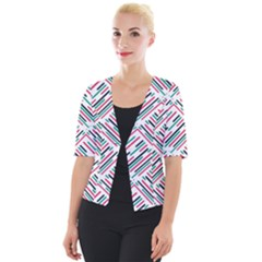 Abstract Colorful Pattern Background Cropped Button Cardigan