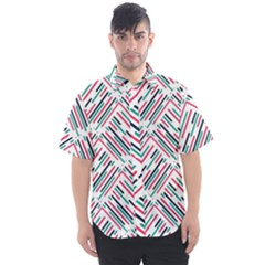 Abstract Colorful Pattern Background Men s Short Sleeve Shirt