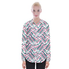 Abstract Colorful Pattern Background Womens Long Sleeve Shirt