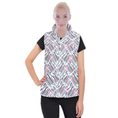 Abstract Colorful Pattern Background Women s Button Up Vest
