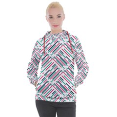Abstract Colorful Pattern Background Women s Hooded Pullover