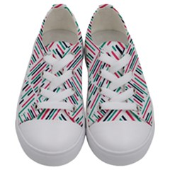 Abstract Colorful Pattern Background Kids  Low Top Canvas Sneakers