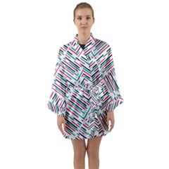 Abstract Colorful Pattern Background Long Sleeve Satin Kimono