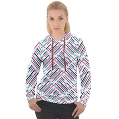 Abstract Colorful Pattern Background Women s Overhead Hoodie