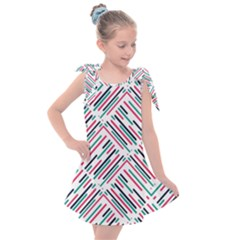 Abstract Colorful Pattern Background Kids  Tie Up Tunic Dress