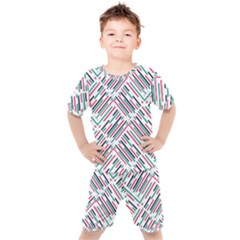 Abstract Colorful Pattern Background Kids  Tee And Shorts Set