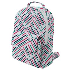 Abstract Colorful Pattern Background Flap Pocket Backpack (small)