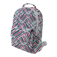 Abstract Colorful Pattern Background Flap Pocket Backpack (large)