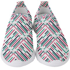 Abstract Colorful Pattern Background Kids  Slip On Sneakers