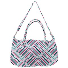 Abstract Colorful Pattern Background Removal Strap Handbag