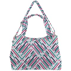 Abstract Colorful Pattern Background Double Compartment Shoulder Bag