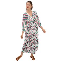 Abstract Colorful Pattern Background Grecian Style  Maxi Dress