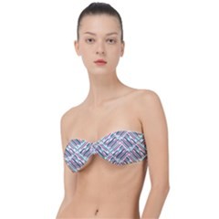 Abstract Colorful Pattern Background Classic Bandeau Bikini Top