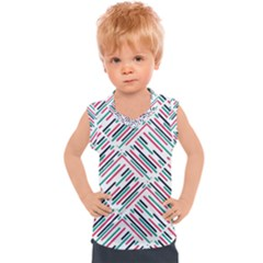 Abstract Colorful Pattern Background Kids  Sport Tank Top