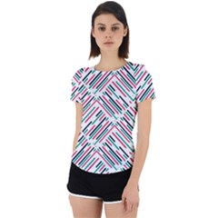 Abstract Colorful Pattern Background Back Cut Out Sport Tee