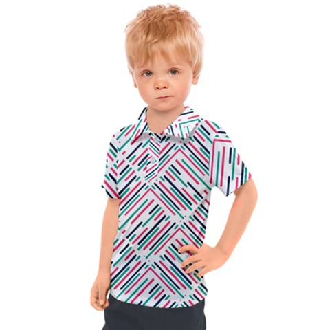 Abstract Colorful Pattern Background Kids  Polo Tee by Wegoenart