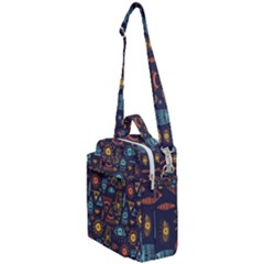 Trendy African Maya Seamless Pattern With Doodle Hand Drawn Ancient Objects Crossbody Day Bag