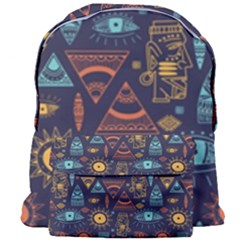 Trendy African Maya Seamless Pattern With Doodle Hand Drawn Ancient Objects Giant Full Print Backpack