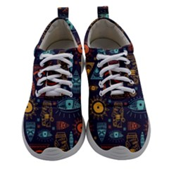 Trendy African Maya Seamless Pattern With Doodle Hand Drawn Ancient Objects Athletic Shoes
