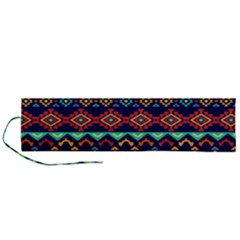 Pattern Tribal Style Roll Up Canvas Pencil Holder (l)