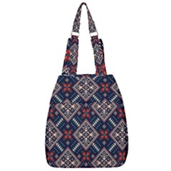 Ukrainian Folk Seamless Pattern Ornament Center Zip Backpack