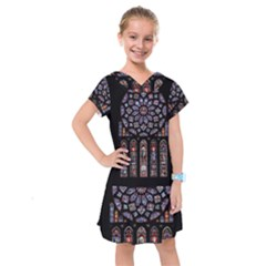 Chartres Cathedral Notre Dame De Paris Amiens Cath Stained Glass Kids  Drop Waist Dress