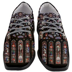 Chartres Cathedral Notre Dame De Paris Amiens Cath Stained Glass Women Heeled Oxford Shoes by Wegoenart