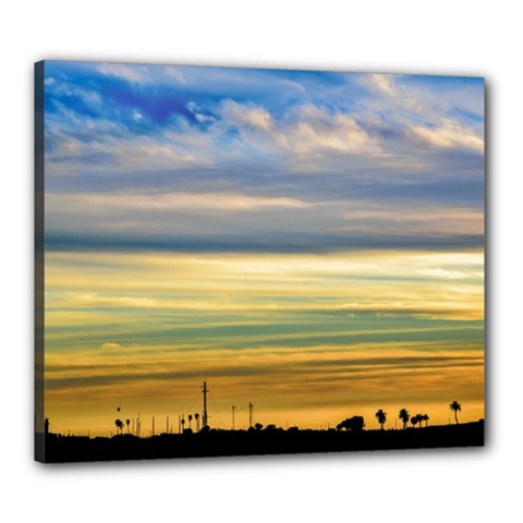 Sunset Silhouette Countryside Landscape Scene Canvas 24  X 20  (stretched) by dflcprintsclothing