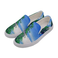 The Deep Blue Sky Women s Canvas Slip Ons by Fractalsandkaleidoscopes