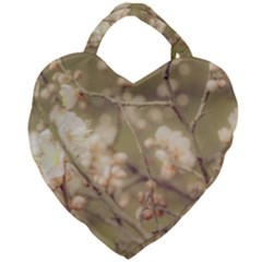 Sakura Flowers, Imperial Palace Park, Tokyo, Japan Giant Heart Shaped Tote by dflcprintsclothing