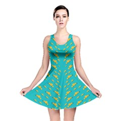 Sakura In Yellow And Colors From The Sea Reversible Skater Dress by pepitasart