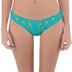 Sakura In Yellow And Colors From The Sea Reversible Hipster Bikini Bottoms by pepitasart
