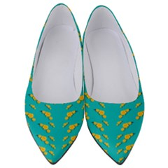 Sakura In Yellow And Colors From The Sea Women s Low Heels by pepitasart