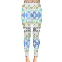 Multicolored Geometric Pattern Leggings  by dflcprintsclothing