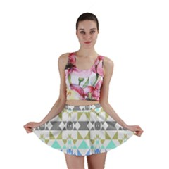 Multicolored Geometric Pattern Mini Skirt by dflcprintsclothing