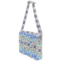 Multicolored Geometric Pattern Cross Body Office Bag