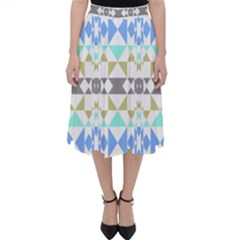 Multicolored Geometric Pattern Classic Midi Skirt by dflcprintsclothing