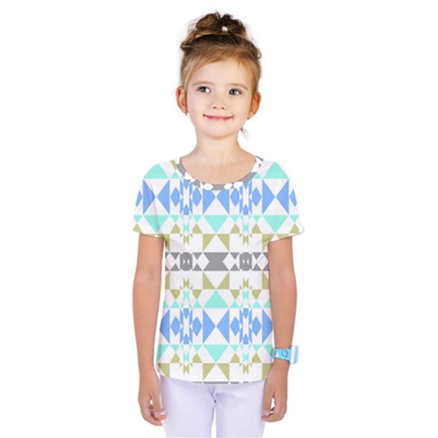 Multicolored Geometric Pattern Kids  One Piece Tee by dflcprintsclothing