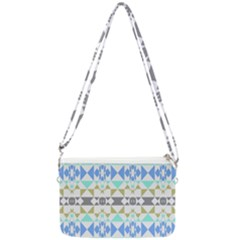 Multicolored Geometric Pattern Double Gusset Crossbody Bag