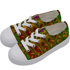 Sakura Blossoms Popart Kids  Low Top Canvas Sneakers by pepitasart