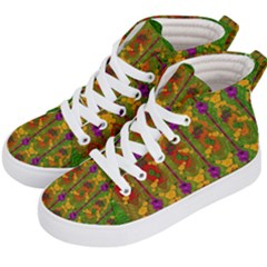 Sakura Blossoms Popart Kids  Hi-top Skate Sneakers by pepitasart