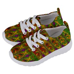 Sakura Blossoms Popart Kids  Lightweight Sports Shoes by pepitasart