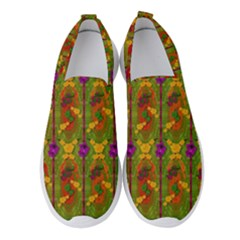 Sakura Blossoms Popart Women s Slip On Sneakers by pepitasart