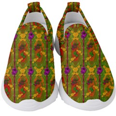 Sakura Blossoms Popart Kids  Slip On Sneakers by pepitasart