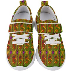 Sakura Blossoms Popart Kids  Velcro Strap Shoes by pepitasart