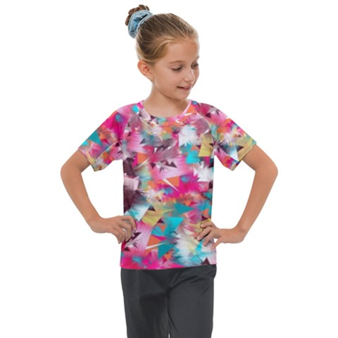 Color Pieces Kids  Mesh Piece Tee by Sparkle