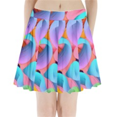 3d Color Swings Pleated Mini Skirt by Sparkle