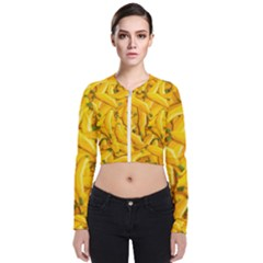 Geometric Bananas Long Sleeve Zip Up Bomber Jacket by Sparkle